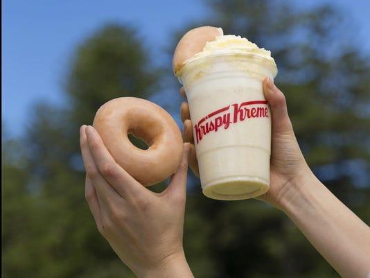 Krispy Kreme doughnut shakes
