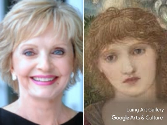 """Florence Henderson matched with """"Laus Veneris"""" by Edward"""
