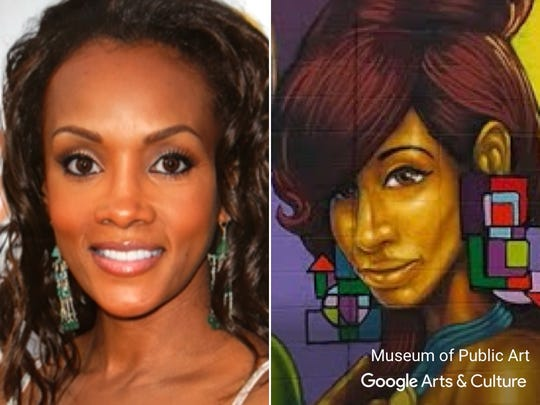 Vivica A. Fox matched with a painting by Rahmaan Statik