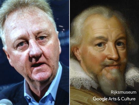 """Larry Bird matched with """"Portrait of Count Jan VII"""