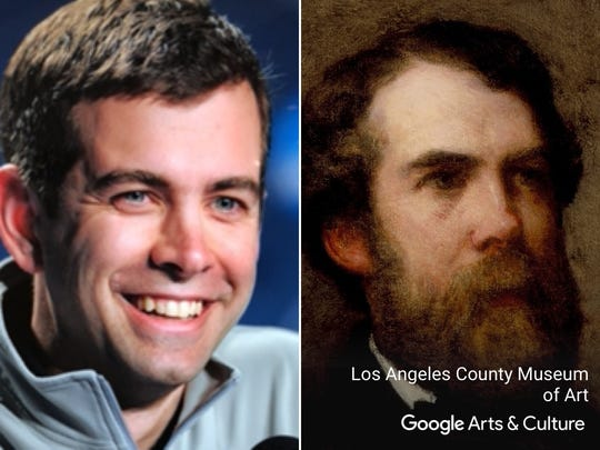 "Brad Stevens matched with ""Portrait of Edward Wheelwright."""