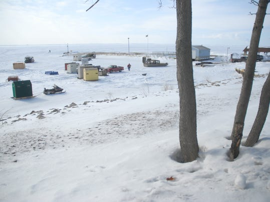 ice fishing feature