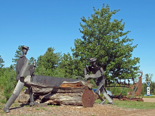 Some Lakenenland sculptures are larger than life.