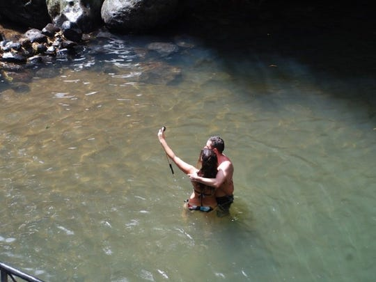 Popular attractions such as waterfall hikes draw students taking a break from studies