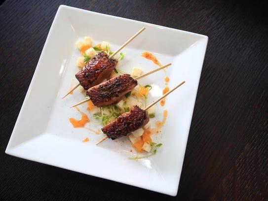 DVine's Duck Au Poivre. The Sparkill restaurant will open in Piermont.