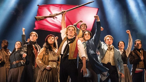 """The cast of """"Les Miserables."""" Photo by Matthew Murphy."""