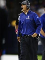 Indianapolis Colts coach Chuck Pagano yelled at his