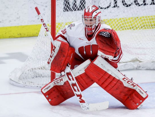 Ann-Renee Desbiens was a star goalie for Wisconsin.
