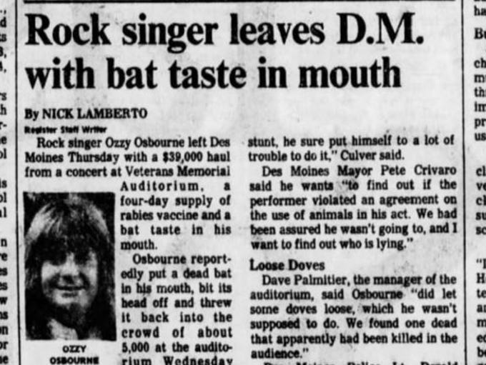 A clip from the Jan. 22, 1982 Register, two days after