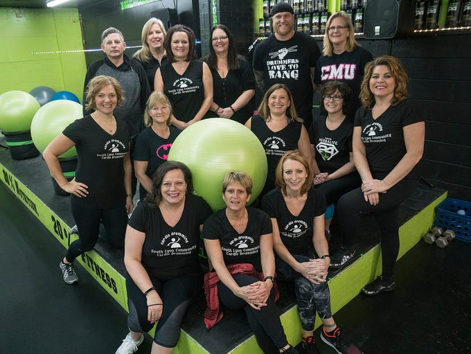 Meet the crew that leads the cardio drumming class: