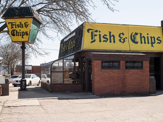 Fish and Chips restaurant on East Michigan Avenue.
