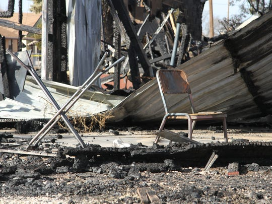 Carlsbad Fire Department report that no one was inside the home when it was in flames.