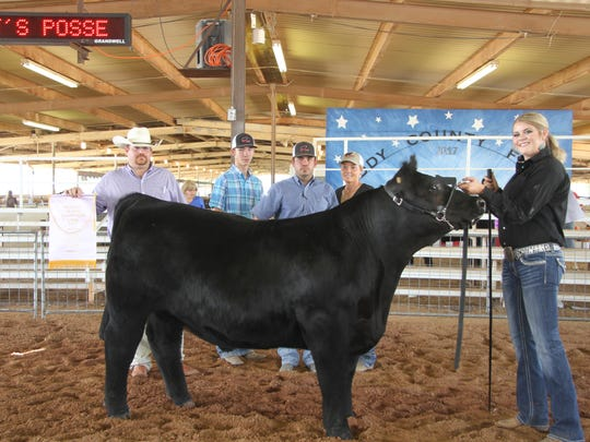 Eighteen-year-old Shyann Spence from Artesia FFA Club won Reserve Champion in the market steer show at the Eddy County Fair, Thursday, July 27, 2017. Spence also placed second in Class 3.