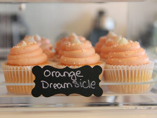 Orange Dreamsicle cupcakes at Brandy's All City Sweets
