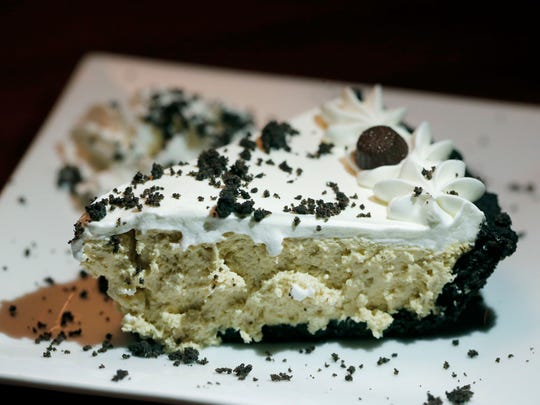 Peanut Butter Pie with Oreo Crust at Alex's Place in Batavia.
