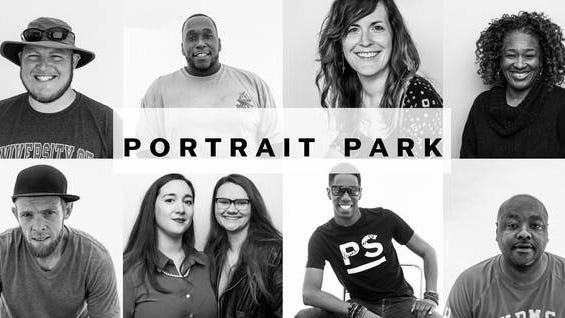 The long-awaited Portrait Park, a project curated by local photographer Sarah Gilliam, will be located next to the Row & Co. building across from the Union Station train depot on Depot Street. The project plans to open Saturday starting at 8 a.m.