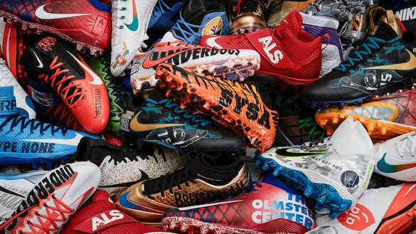 Players around the NFL will wear custom cleats for