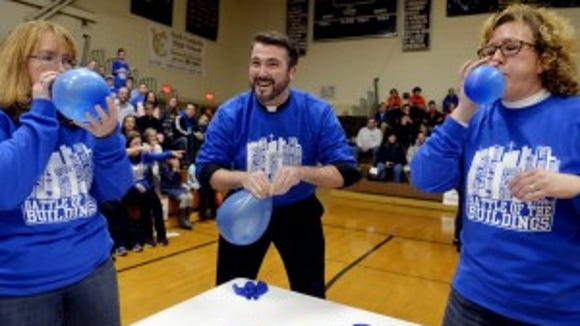 """This year will be the second annual Battle of the Buildings, when Catholic schools compete in """"Minute to Win It"""" type games for Catholic Schools Week. (File photo)"""