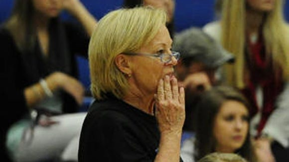 Brentwood volleyball coach Barbara Campbell