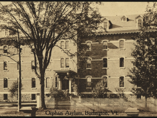 Historic photo of the St. Joseph's Orphanage on Burlington's North Avenue.