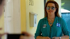 Alicia Machado campaigns for Hillary Clinton on Aug.