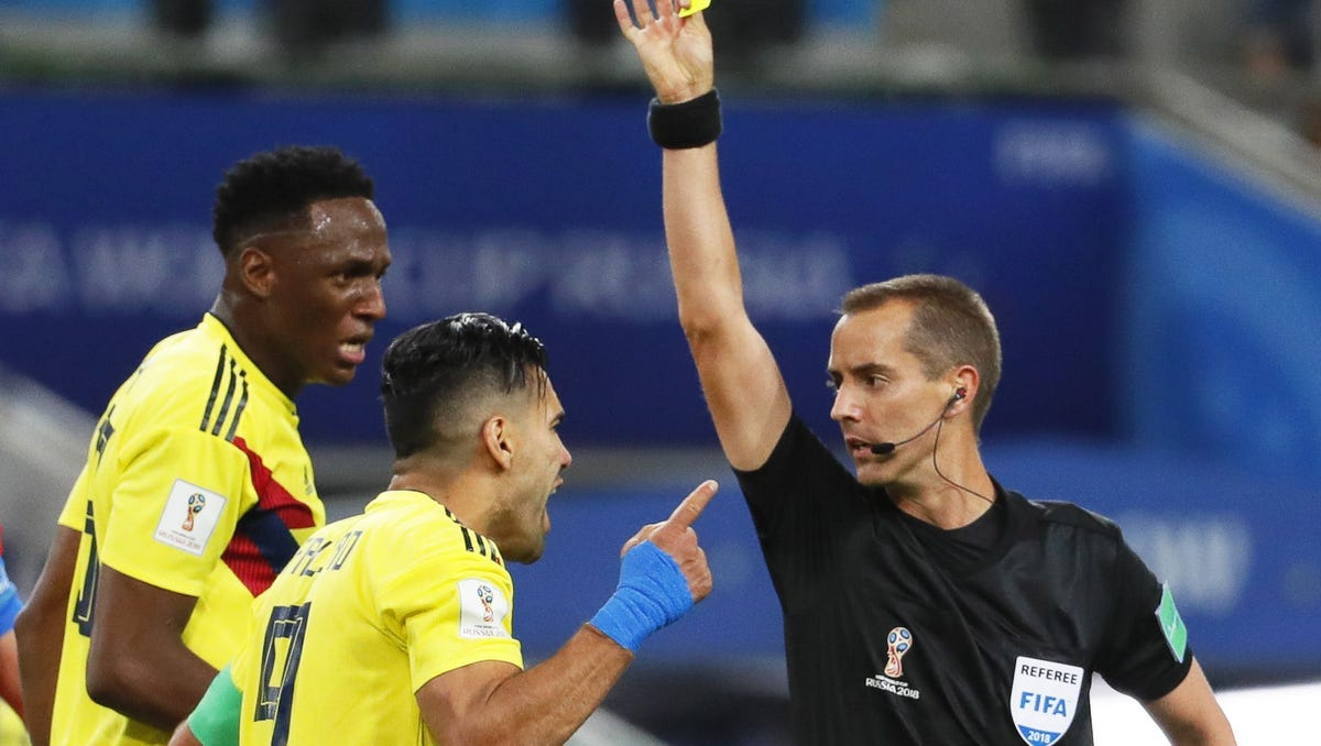 Colombian captain blasts American World Cup referee for shamefully favoring England