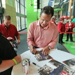 Indiana coach Tom Crean, shown during this year's Hoosier Hysteria, has found some peace after a difficult offseason.
