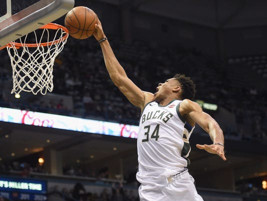 NBA  Atlanta Hawks at Milwaukee Bucks. Bucks forward Giannis Antetokounmpo  ... 6cea14b13