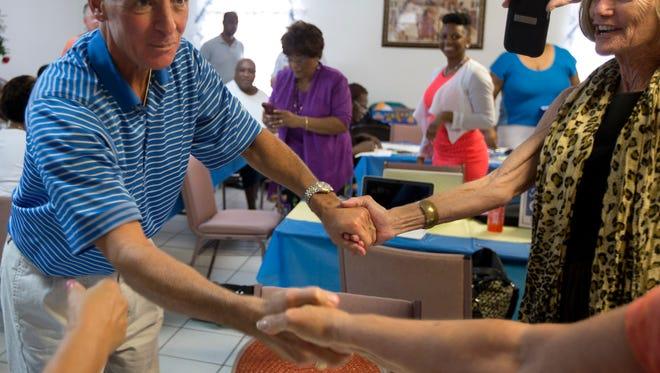 Former Florida Republican Gov. Charlie Crist makes a campaign stop in Boynton Beach today.