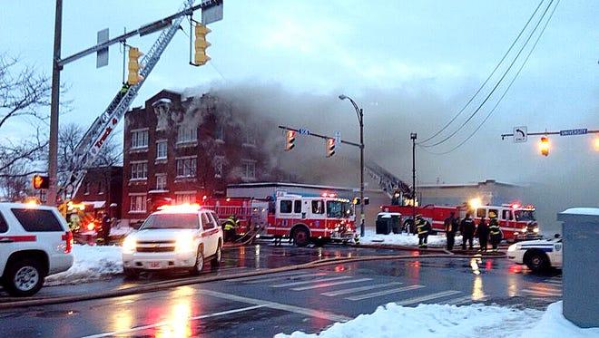 Fire on Scio Street.
