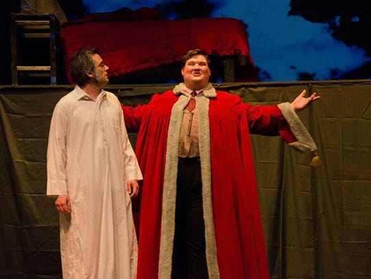 Nathan Williamson, left. as Scrooge and Keith Meccia