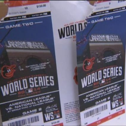 The World Series tickets were just nibbled, so they'll still work.