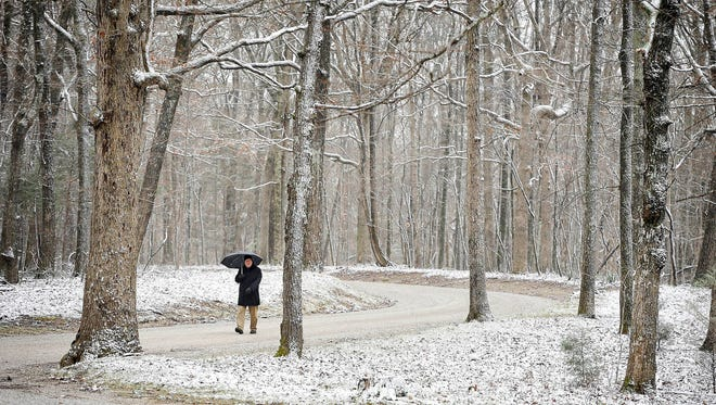 After a warm first few days, a cold front arriving later this week in Memphis will bring a chance for some snow, said Andy Chiuppi, meteorologist for the National Weather Service. Last January, a dusting of snow covered the ground in Sewanee, Tenn.