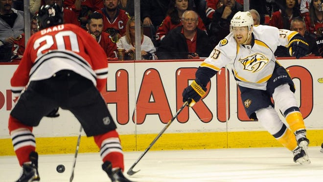 Colin Wilson, who scored three power-play goals during the regular season, has four in five playoff games.
