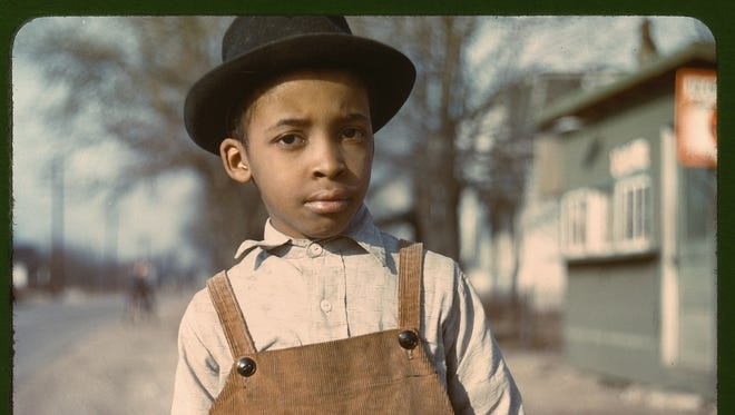 "This 1942 photo only had the description of ""Negro boy near Cincinnati, Ohio."""