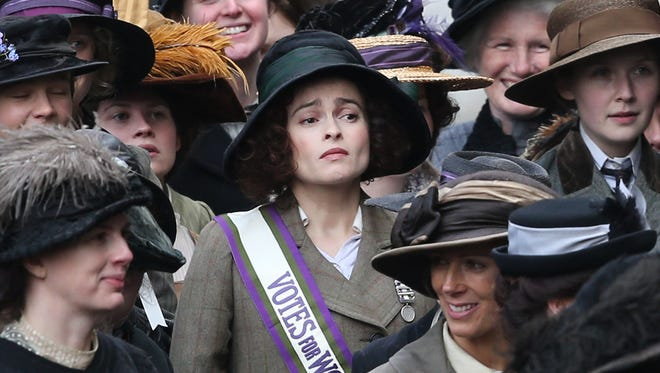 """Suffragette,"" co-starring Helena Bonham Carter is the story of a wife and mother completely radicalized by the women's suffrage movement,"