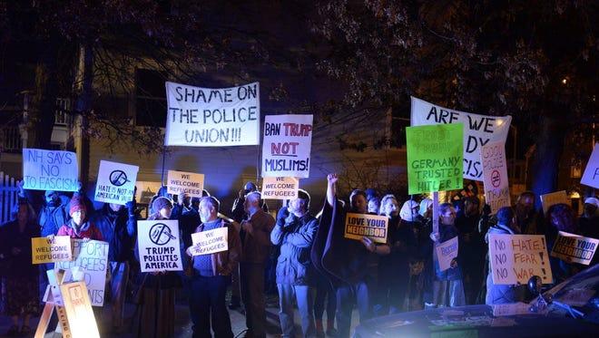 Demonstrators in Portsmouth, N.H., in December 2015.