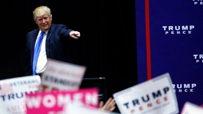 Donald Trump campaigns in Sioux City, Iowa, on Nov. 6, 2016.