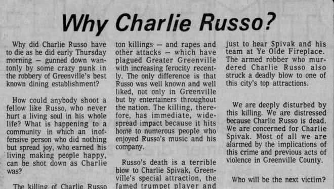 An editorial from The Greenville News on May 30, 1975.