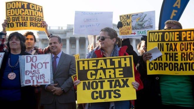 Protest in Washington on Nov. 30, 2017.