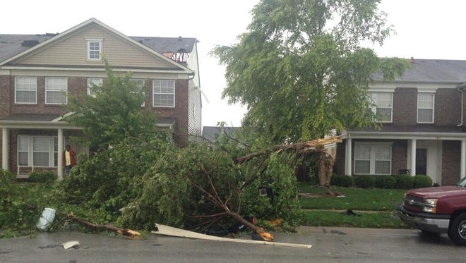 Trees down and damage on Zachary St. in Avon.