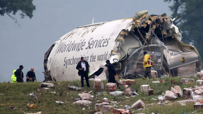 The National Transportation Safety Board said Tuesday that the crew of a UPS jet that crashed last year in Birmingham, Ala., made mistakes during the landing, but that fatigue of the pilot and co-pilot were also factors in the accident. Both died in the crash.