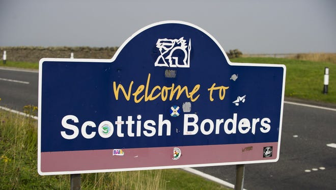 Border between England and Scotland on Thursday.