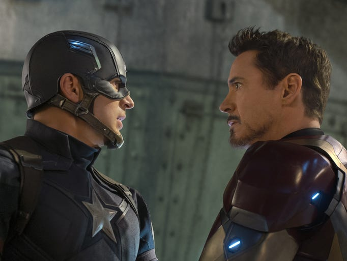 Avengers teammates and friends Steve Rogers (Chris