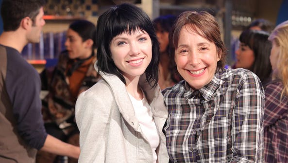 Carly Rae Jepsen, left, and Didi Conn appear during