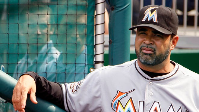 Ozzie Guillen as Marlins manager on Aug. 3, 2012. Guillen led the White Sox to the 2005 World Series title.
