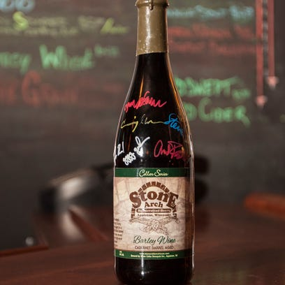 Blindsided Barley Wine has been aged for a year in a wine barrel. Each bottle has been signed by the brewery staff.
