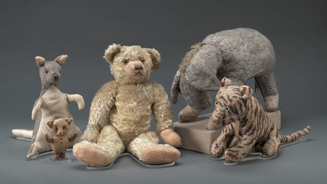 The New York Public Library's Winnie-the-Pooh and friends, after their restoration, in August 2016..