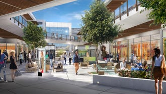 A rendering of the proposed The Heights at Monmouth, an overhaul of Monmouth Mall.