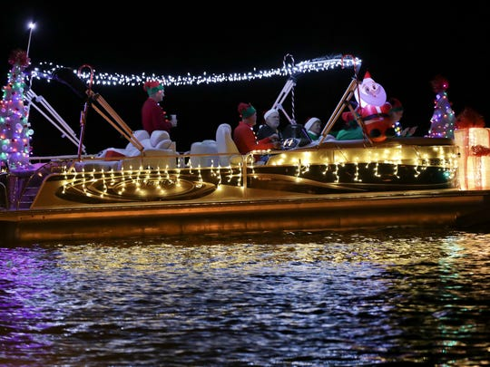 Lights make the Indian River County Christmas Boat